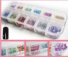 Women  Decorat Manicure Wheel Supplies Nail Art Rhinestones Glitters Tips1200pc