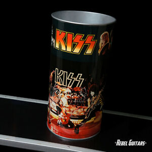 1977 KISS Trash Can - Vintage Aucoin Mgt. Gene Simmons  Ace Frehley Paul Stanley