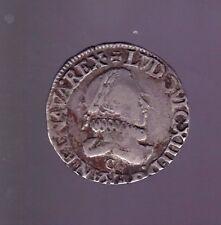 (ROY 59)  LOUIS XIII DEMI FRANC AU BUSTE ENFANTIN 1615 C  St LÔ (RARE) TB+