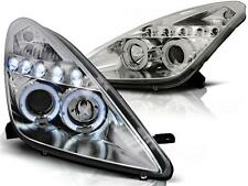 Angel Eyes Scheinwerfer Set Toyota Celica T230 BJ 99-05 Klarglas / Chrome