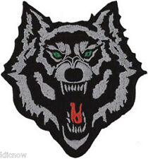 """WOLF EMBROIDERED PATCH 10CM x 11CM (4 1/4 x 4"""")"""
