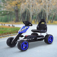 Pedal Go Karting Cart Kart Car Toy for Toddler Children Boys and Girls Blue