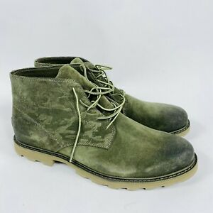 Sorrel  Madson Chukka Waterproof Olive Green Suede Leather Men's Size 12