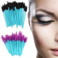 50Pcs Disposable Eyelash Brush Mascara Wands Applicator Eyebrow Comb Makeup Tool