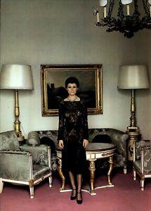 1976 Helmut Newton See Through Dress On A Solemn Model 1975 Art Photo Engraving