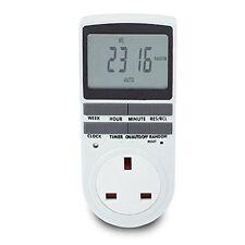 Sourcingmap UK Timer Socket/lcd Display Digital Programmable Plug Wall Home Swit