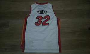 # 32 SHAQUILLE ONEAL STITCHED MIAMI HEAT YOUTH BOYS SIZE XL NBA JERSEY REEBOK