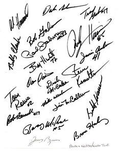 1990's NASCAR Busch North Series drivers original hand signed autographs