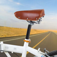 Retro Riveted PU Leather Bicycle Saddle Fixie Road Bike Vintage Seat Cycling