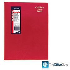 Collins® Vanessa Colours A5 Day to Page Diary 2018 Red (185.V15-18)