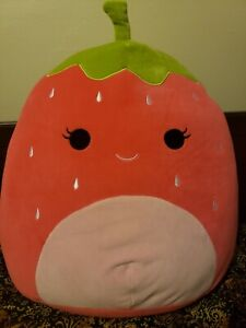 "16"" Scarlet the Strawberry Squishmallow BNWT - Popular and HTF"