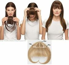 3Clip On One Piece Bangs Clip In 100%Real Human Hair Extensions In Front Fringes