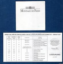 Certificat du coffret BE Belle Epreuve 1996 tirage 5319 exemplaires photo non co
