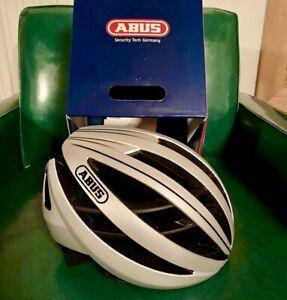 Abus Aventor Helmet Gleam Silver Size Medium
