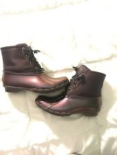 Women's Sperry Waterproof Duck Boots Size 7 Purple