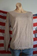 Carnabys hübscher Oversize 100% Wolle Schurwolle Pullover L 42 NEU Beige