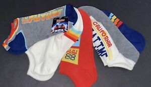 UNIVERSAL Back To The Future WOMENS 5 PACK NO SHOWS SOCKS NEW