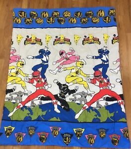 "Vintage 1994 Mighty Morphin Power Rangers Twin Size Comforter Blanket 60"" x 88"""