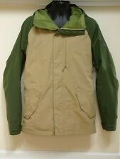 Burton snowboard /ski i Tan Green Hooded Jacket Gore-Tex Men's Small