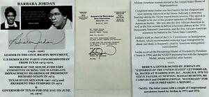 CIVIL RIGHTS BLACK CONGRESSWOMAN TX NIXON WATERGATE COMM JORDAN LETTER SIGNED 78