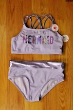 Justice Girls' Size 18 2-Piece Mermaid Hipster Bottom Bathing Suit - UPF50+