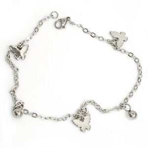 Stainless Steel Anklet With Eingearbeitetent Butterflies