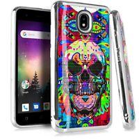 CHROME BRUSHED Case For Samsung Galaxy Phone Cover Colorful Skull