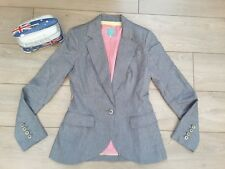 JOULES TAYLA silver grey pretty Pink LINEN flax cotton BLAZER Jacket COAT 14