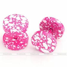 Punk Pair Stainless Steel Colorful Fake Cheater Ear Plug Stud Earring Piercing