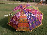Indian Handmade Garden Umbrella Patio Outdoor Decorative Beach Sun Shade Parasol
