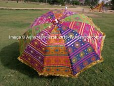 Indian Handmade Garden Umbrella Patio Outdoor Decorative Beach Sun Shade Parasol