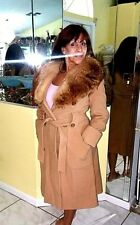 Full Length WOOL COAT WITH FOX FUR COLLAR