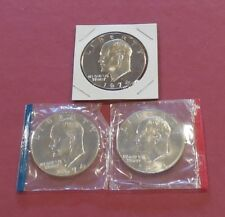 1974 P, D & S * EISENHOWER IKE Dollars * UNC +  PROOF