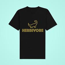 Herbi the Herbivore Vegan Vaganuary T-shirt : Gold Lettering : Unisex : Free P&P