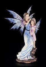 Elfen Figur - Mary mit Tochter - Fee Mutter Kind Statue Fantasy Deko