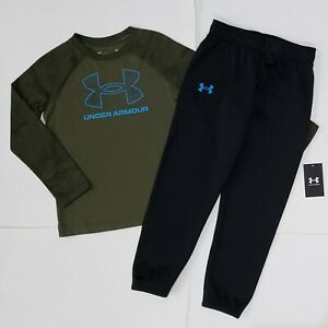 BOYS Nike UNDER ARMOUR SHIRT & FLEECE JOGGERS SET SIZE SMALL 8/10:  NWT