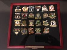 PITTSBURGH PIRATES CHAMPIONSHIP PIN COLLECTION WITH COLLECTIBLE WOOD CASE