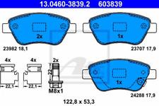 Bremsbelagsatz, Scheibenbremse für Bremsanlage Vorderachse ATE 13.0460-3839.2