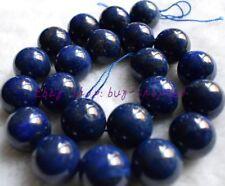 "New Natural Egytpian 10mm Round Blue Lapis Lazuli Gemstone Loose Beads 15"""