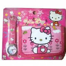 ❤Childs/Childrens Hello Kitty Wrist Watch & Wallet Gift Set ❤