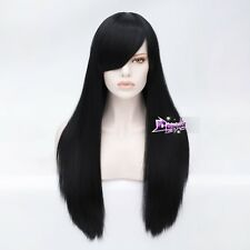 Long Straight 70CM Black Wig Hair for Alice Madness Returns Anime Cosplay Wig