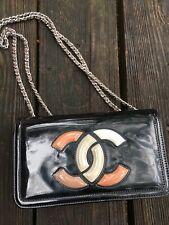 Auth chanel Chain Shoulder Handbag Patent Leather