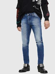 DIESEL TEPPHAR 081AQ STRETCH Men's  SLIM CARROT Size W 29 L 32 Denim Jeans