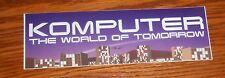 Komputer The World of Tomorrow Bumper Sticker Promo 6x2 Electronic RARE