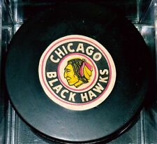 1969-76 CHICAGO BLACKHAWKS  NHL CONVERSE GAME USED PUCK USA ART ROSS
