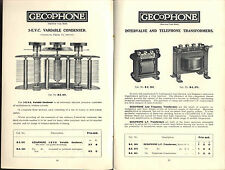 EBOOK WIRELESS GOLDEN AGE 1920s CATALOGUES BROCHURES MARCONI GECOPHONE IGRANIC