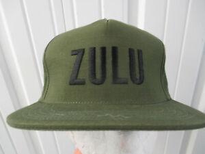 VINTAGE SUPREME ZULU SEWN OLIVE GREEN FIVE PANEL SNAPBACK CAP HAT S/S 2016 NWT