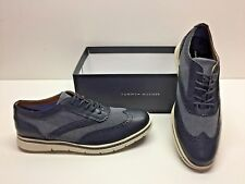 93056f4d5da4d Tommy Hilfiger Faro Navy Lace up Wingtip Oxfords Casual Fashion Shoes Mens  10.5