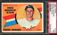 1960 Topps Baseball #132 FRANK HOWARD Los Angeles Dodgers RC ROOKIE PSA 7 NM