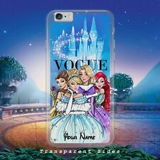 DISNEY PRINCESS/ARIEL/BELLE/PERSONALISED NAME/HARD PHONE CASE/COVER FOR IPHONE